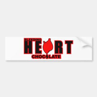 Chocolate do coração de sangramento adesivo para carro