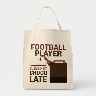 Chocolate (engraçado) do jogador de futebol bolsas para compras