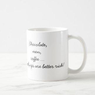 Chocolate, homens, café caneca de café