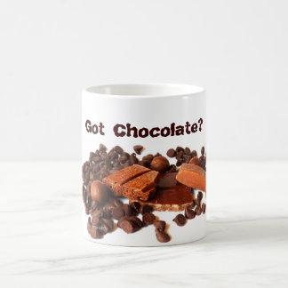 Chocolate obtido? caneca de café