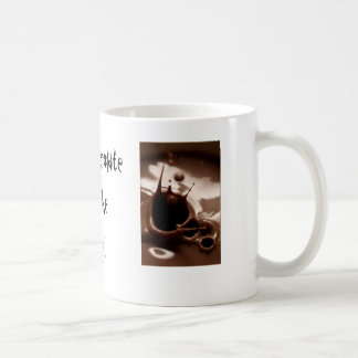 Chocolate quente pelo fogo! caneca de café