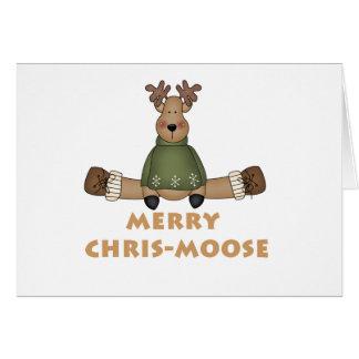 Chris-Alces alegres Cartão Comemorativo