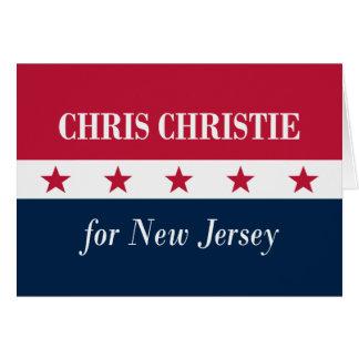 Chris Christie para New-jersey Cartão Comemorativo