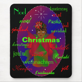 """Christmas Angel From Around The World Mousepad Mouse Pad"
