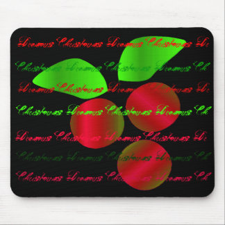 """Christmas Dreams"" Red Holly - Customizable Mouse Mat"