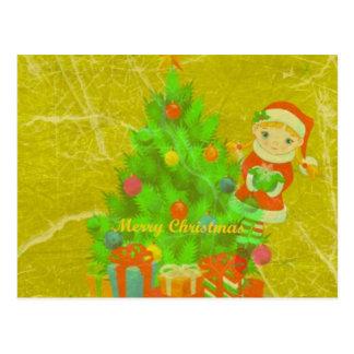Christmas, Merry weihnachtskarte Cartão Postal