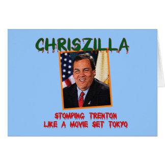 ChrisZilla - cartão de Gov. Chris Christie