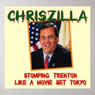 ChrisZilla - poster de Gov. Chris Christie