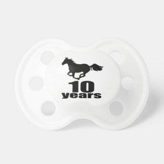 Chupeta 10 anos de design do aniversário
