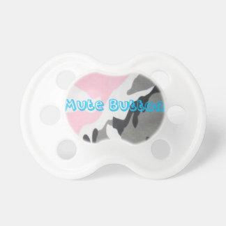 Chupeta Azul mudo de Camo do botão