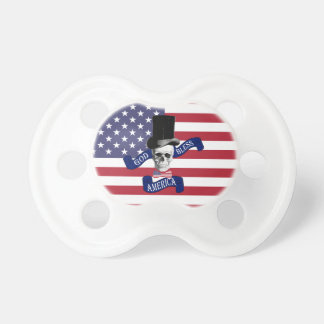 Chupeta Bandeira americana engraçada