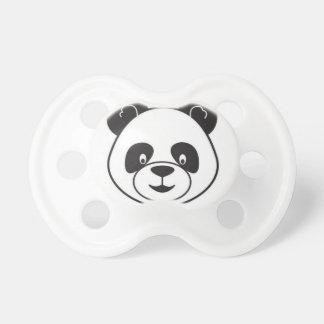 Chupeta Cabeça panda preto e branco