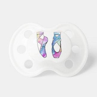 Chupeta Calçados de balé bonitos da dança da aguarela para