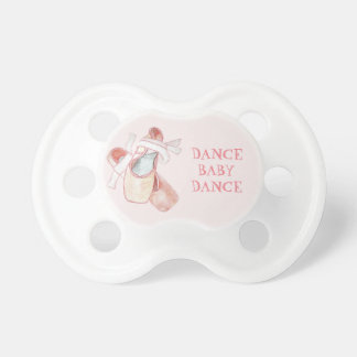 Chupeta Calçados de dedo do pé cor-de-rosa do balé