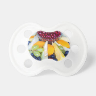 Chupeta Cheio de vidro da escala de várias frutas frescas