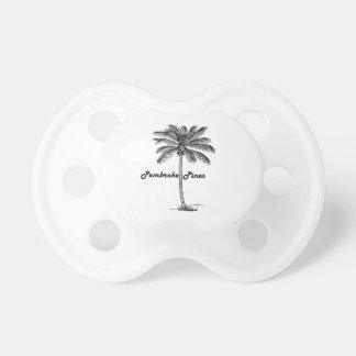 Chupeta Design preto e branco dos pinhos & da palma do