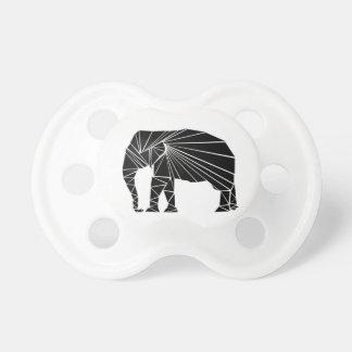 Chupeta Elefante preto geométrico