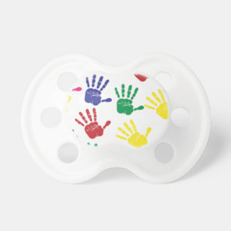 Chupeta Manequim colorido bonito do impressão das mãos do