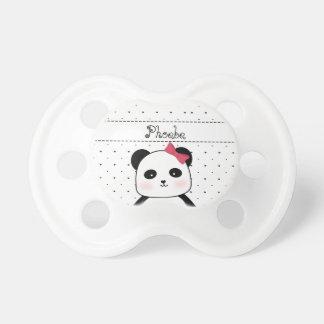 Chupeta O Pacifier do bebé preto e branco da panda