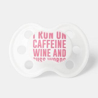 Chupeta O vinho da cafeína & Cuss palavras