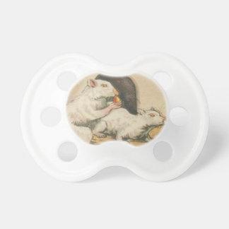 Chupeta Pacifier branco do manequim do bebê do rato do
