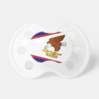 Chupeta Pacifier com a bandeira de Samoa Americanas, EUA