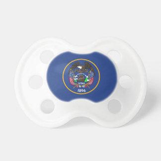 Chupeta Pacifier com a bandeira de Utá, EUA