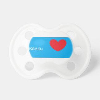 Chupeta Pacifier do bebê do coração do amor de Israel