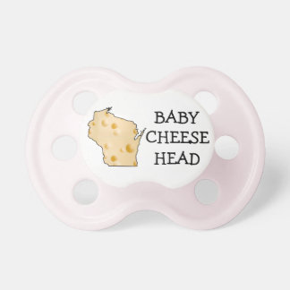 Chupeta Pacifier do rosa do humor de Cheesehead Wisconsin