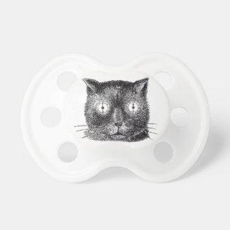 Chupeta Pacifier preto e branco do gato