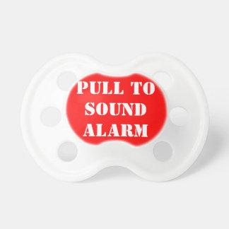 Chupeta Puxe para o Pacifier sadio do bebê do alarme
