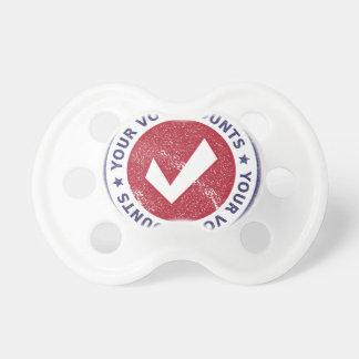Chupeta suas contagens do voto