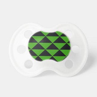 Chupeta Triângulos verdes e pretos de néon