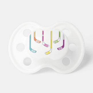 Chupeta Varas de hóquei coloridas bebé ou menina