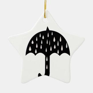 chuva do guarda-chuva ornamento de cerâmica estrela
