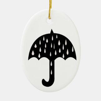 chuva do guarda-chuva ornamento de cerâmica oval