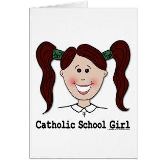 ~ Ciara da menina da escola católica Cartão Comemorativo