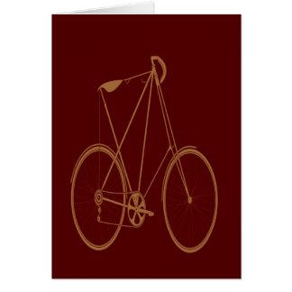 Ciclista vermelho da bicicleta de Tan da bicicleta Cartão Comemorativo
