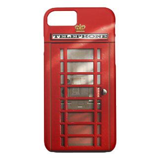 Cidade britânica do iPhone vermelho 7 da cabine de Capa iPhone 7