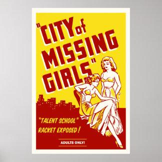 """""""Cidade cartaz cinematográfico do vintage das meni Poster"""