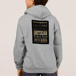 Cidade de Amsterdão da arte da tipografia de Camisetas