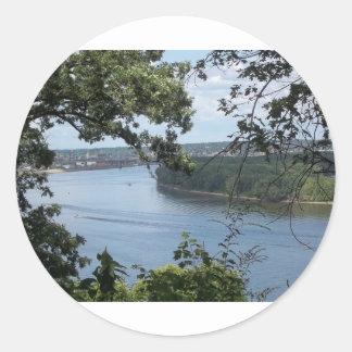 Cidade de Dubuque, Iowa no rio Mississípi Adesivo
