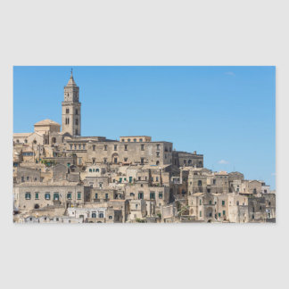 Cidade de Matera dos di de Sassi em Italia Adesivo Retangular