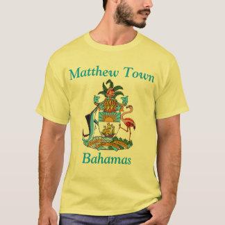 Cidade de Matthew, Bahamas com brasão Tshirt