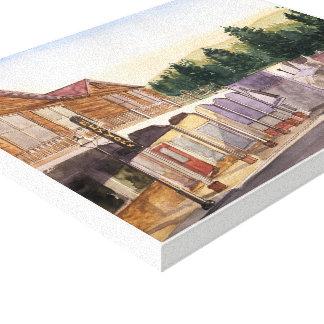 CIDADE de NEVADA - aguarela, impressão das canvas