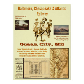 Cidade do oceano, Maryland pelo trilho Poster