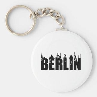 Cidade dos arranha-céus da skyline de Berlim Chaveiro