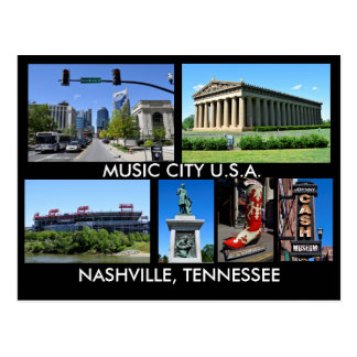 Cidade EUA da música de Nashville Tennessee Cartão Postal