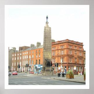 Cidade Ireland de Dublin, monumento de Parnell Poster