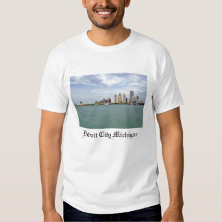 Cidade Michigan de Detroit Camiseta